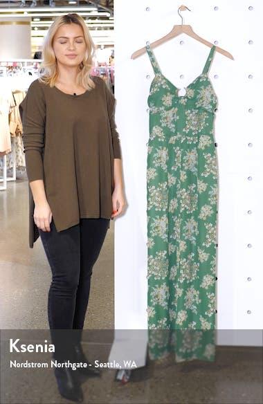 Floral Print Sleeveless Jumpsuit, sales video thumbnail