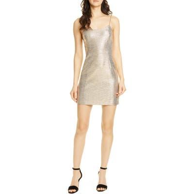 Alice + Olivia Nelle Minidress, Metallic