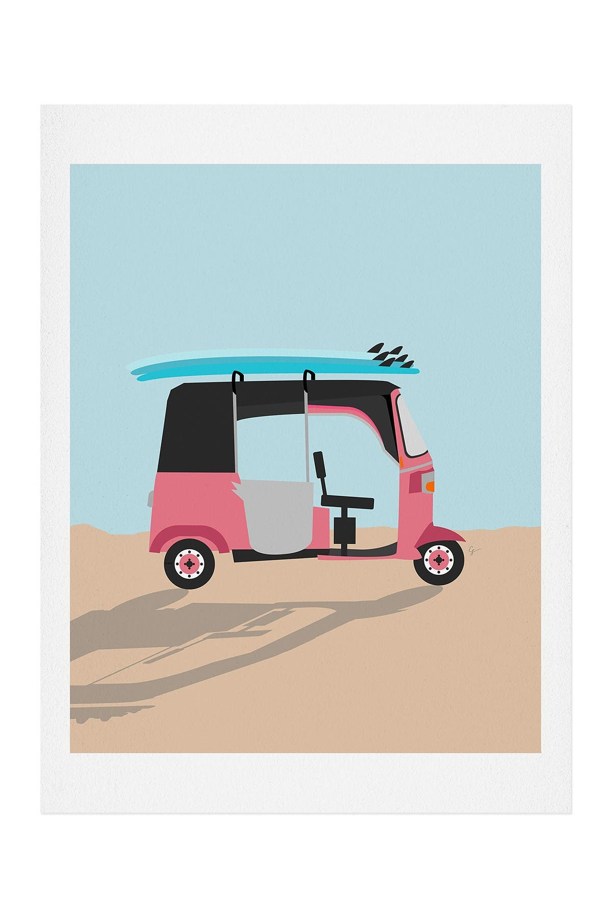 Image of Deny Designs Lyman Creative Co Surf Tuk Tuk in Sri Lanka Art Print
