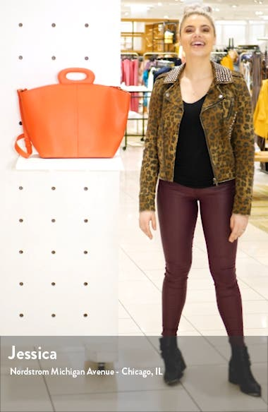 Large Faux Leather Tote, sales video thumbnail
