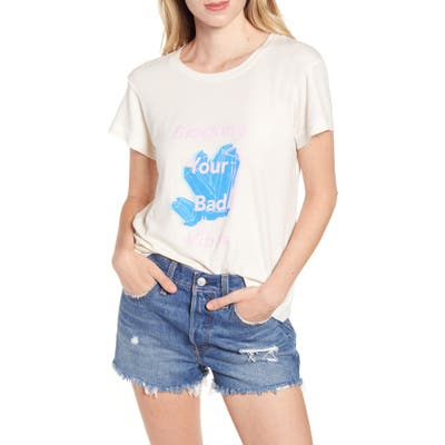 Wildfox Blocking Your Bad Vibes No9 Tee, White