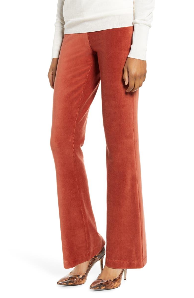 LYSSÉ Somerset Baby Corduroy Bootleg Pants, Main, color, PICANTE
