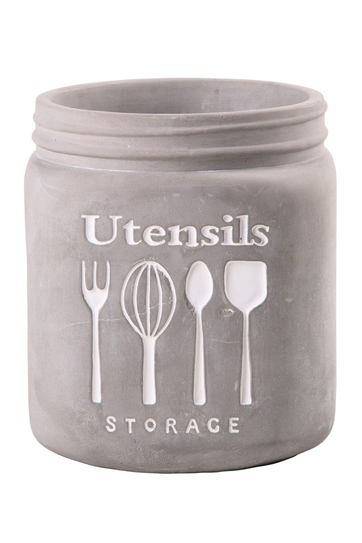 Image of Home Essentials and Beyond Etched Drawings Utensil Crock