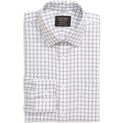 Nordstrom Shop Smartcare(TM) Classic Fit Check Dress Shirt - Grey