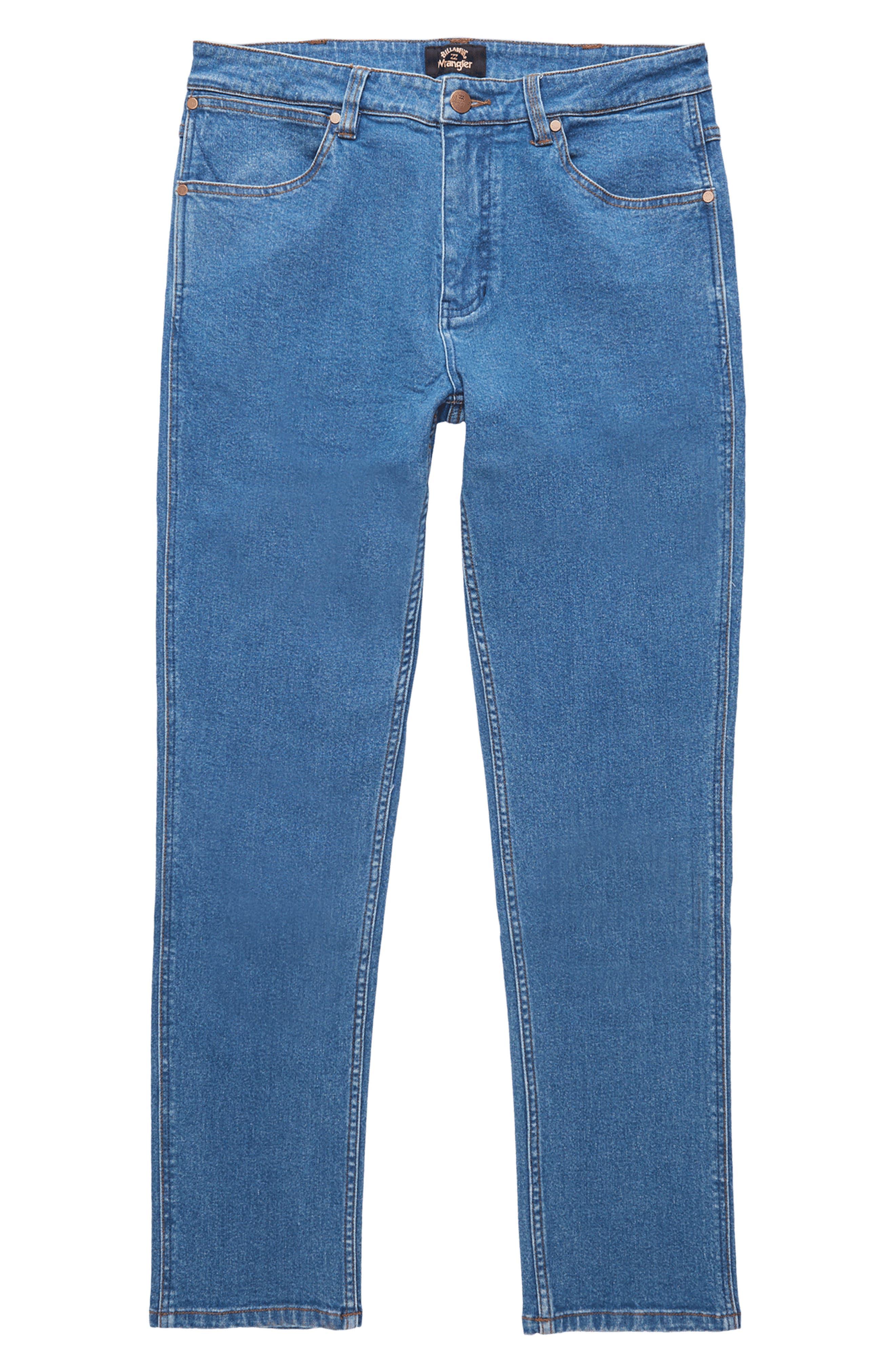 X Wrangler Organic Cotton & Hemp Straight Leg Jeans