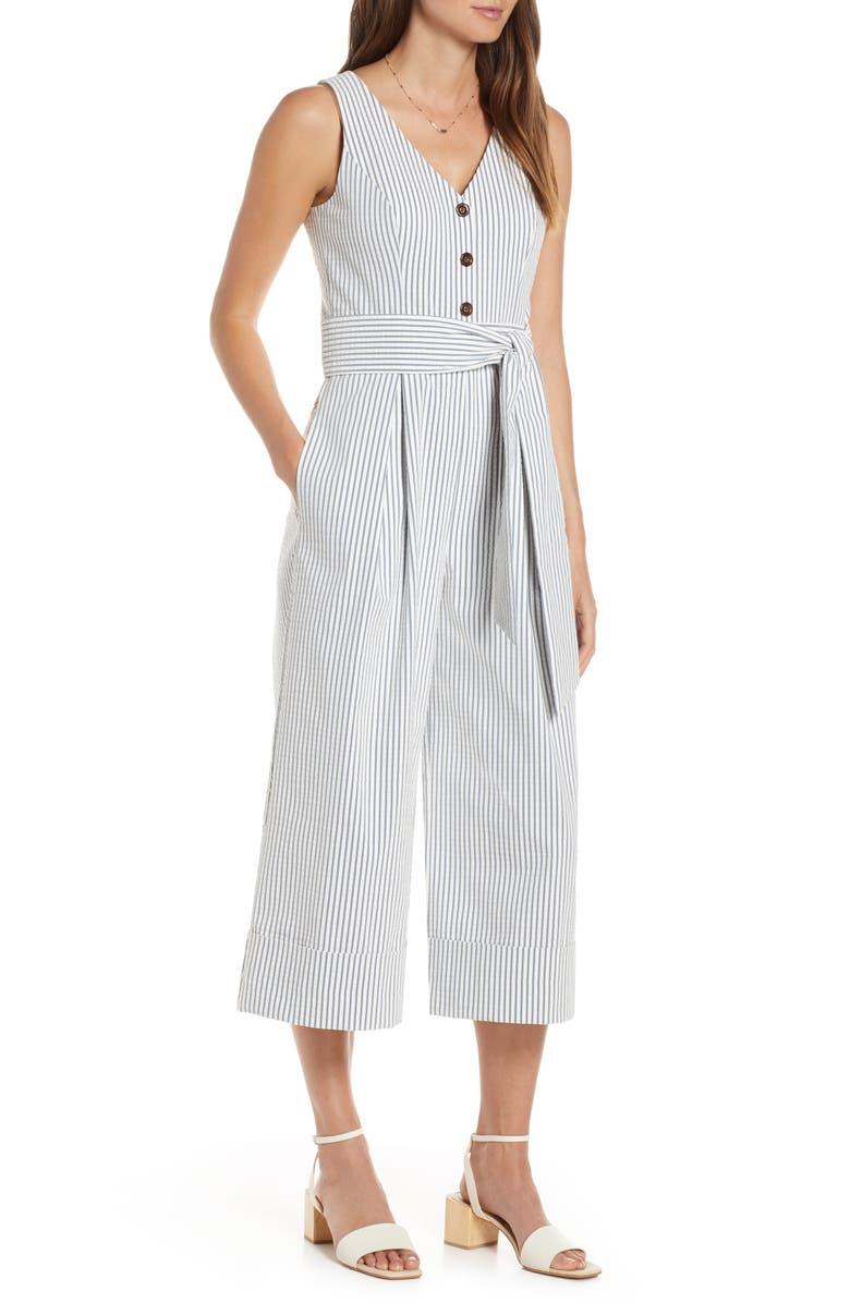 1901 Crop Seersucker Jumpsuit, Main, color, 420