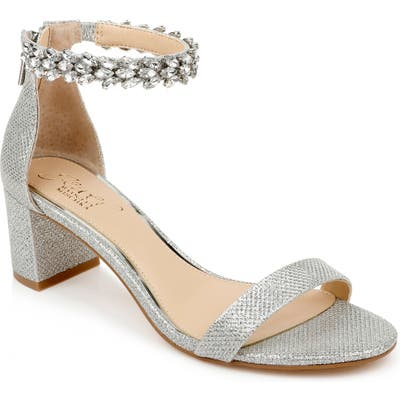 Jewel Badgley Mischka Bradley Ankle Strap Sandal, Metallic