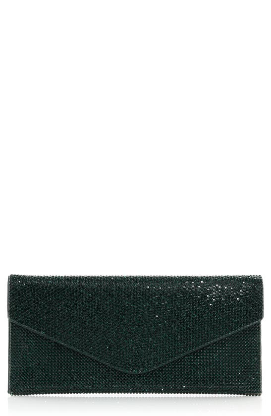 Judith Leiber Couture Beaded Envelope Clutch In Ebonized Emerald