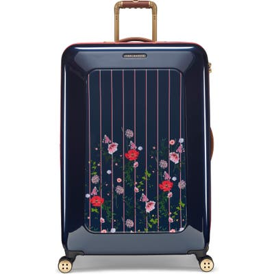 Ted Baker London Large Take Flight Hedgerow 32-Inch Hard Shell Spinner Suitcase - Blue