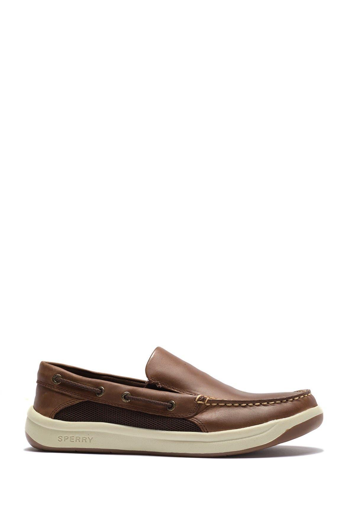 Convoy Slip-On Leather Boat Shoe