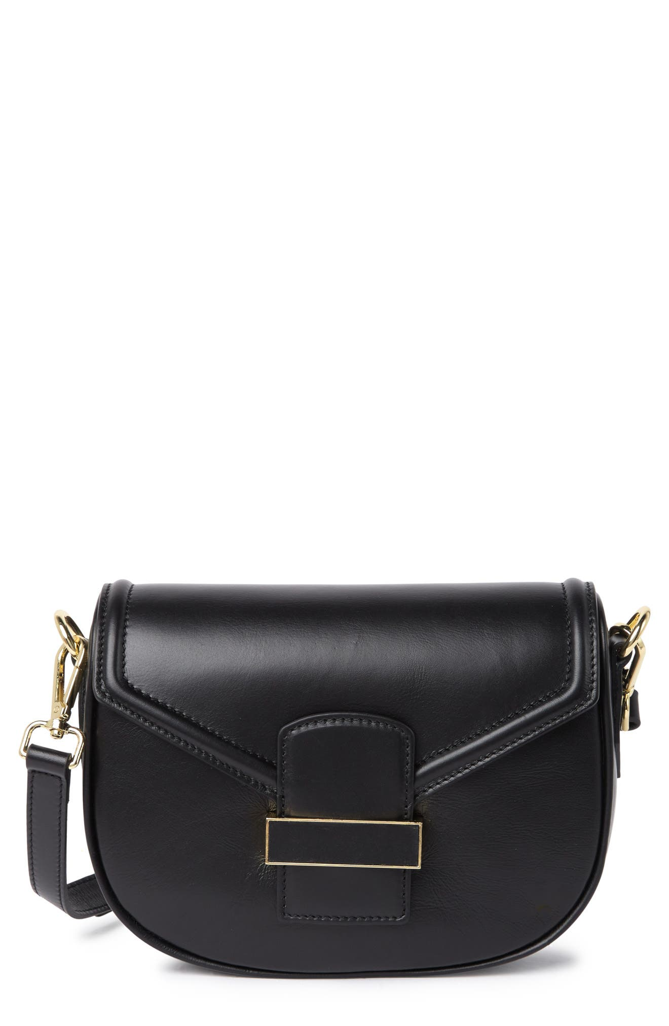 Massimo Castelli Sauvage Leather Crossbody Bag In Black At Nordstrom Rack