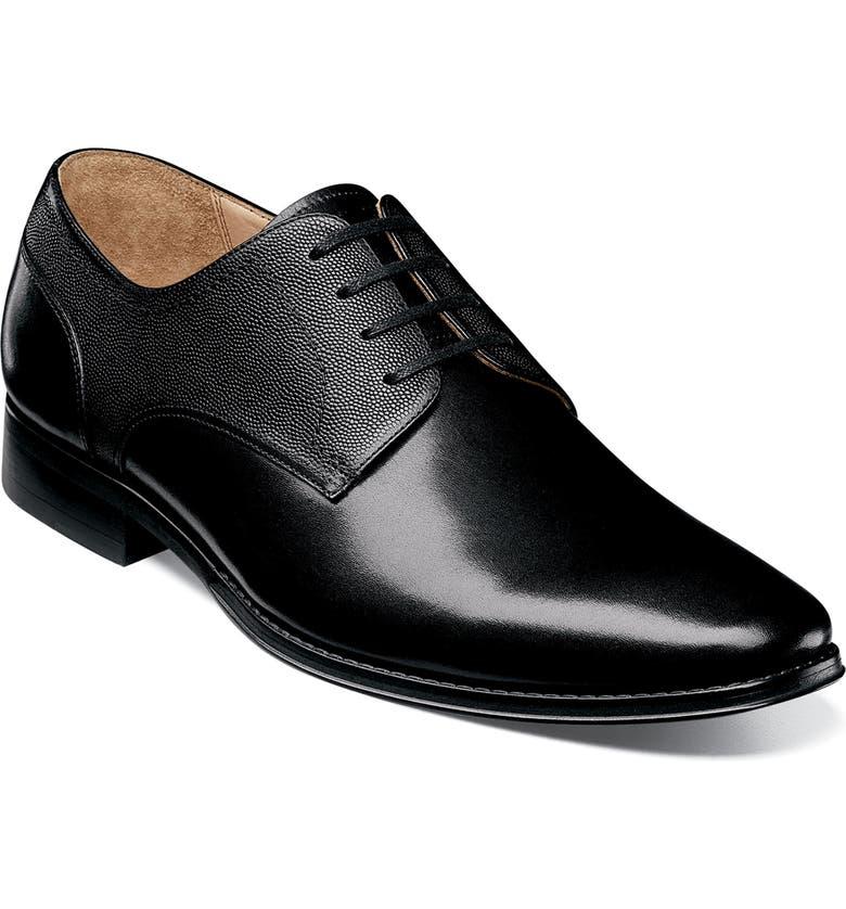 FLORSHEIM Imperial Palermo Plain Toe Derby, Main, color, BLACK
