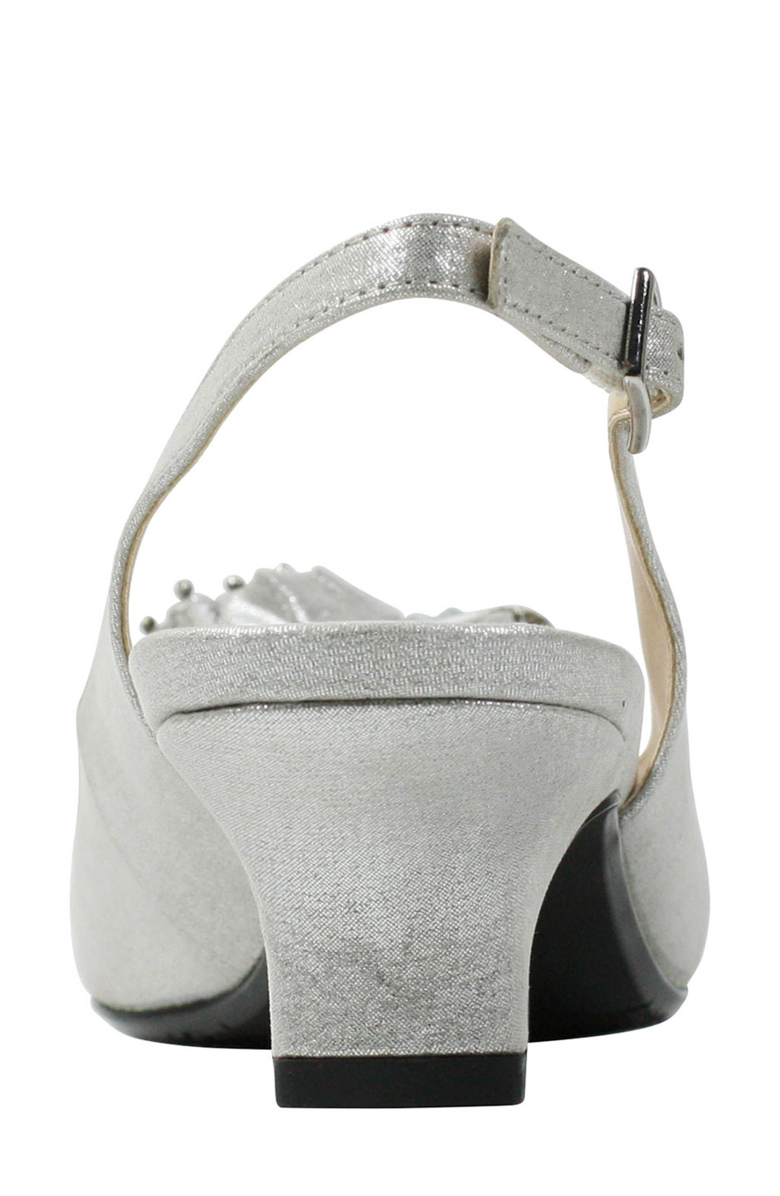 ,                             Leonelle Slingback Crystal Embellished Sandal,                             Alternate thumbnail 2, color,                             SILVER SATIN