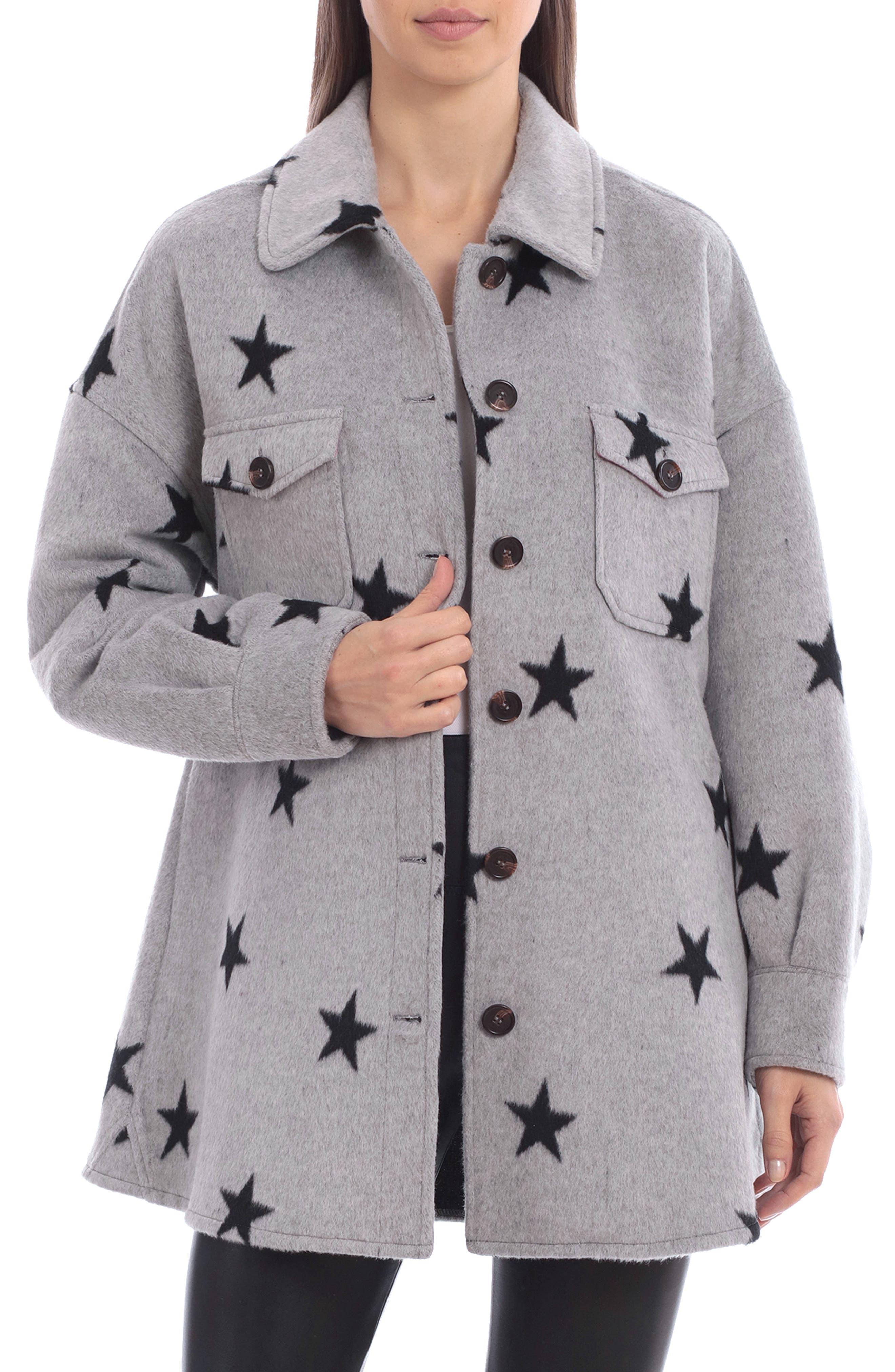 Star Print Shirt Jacket