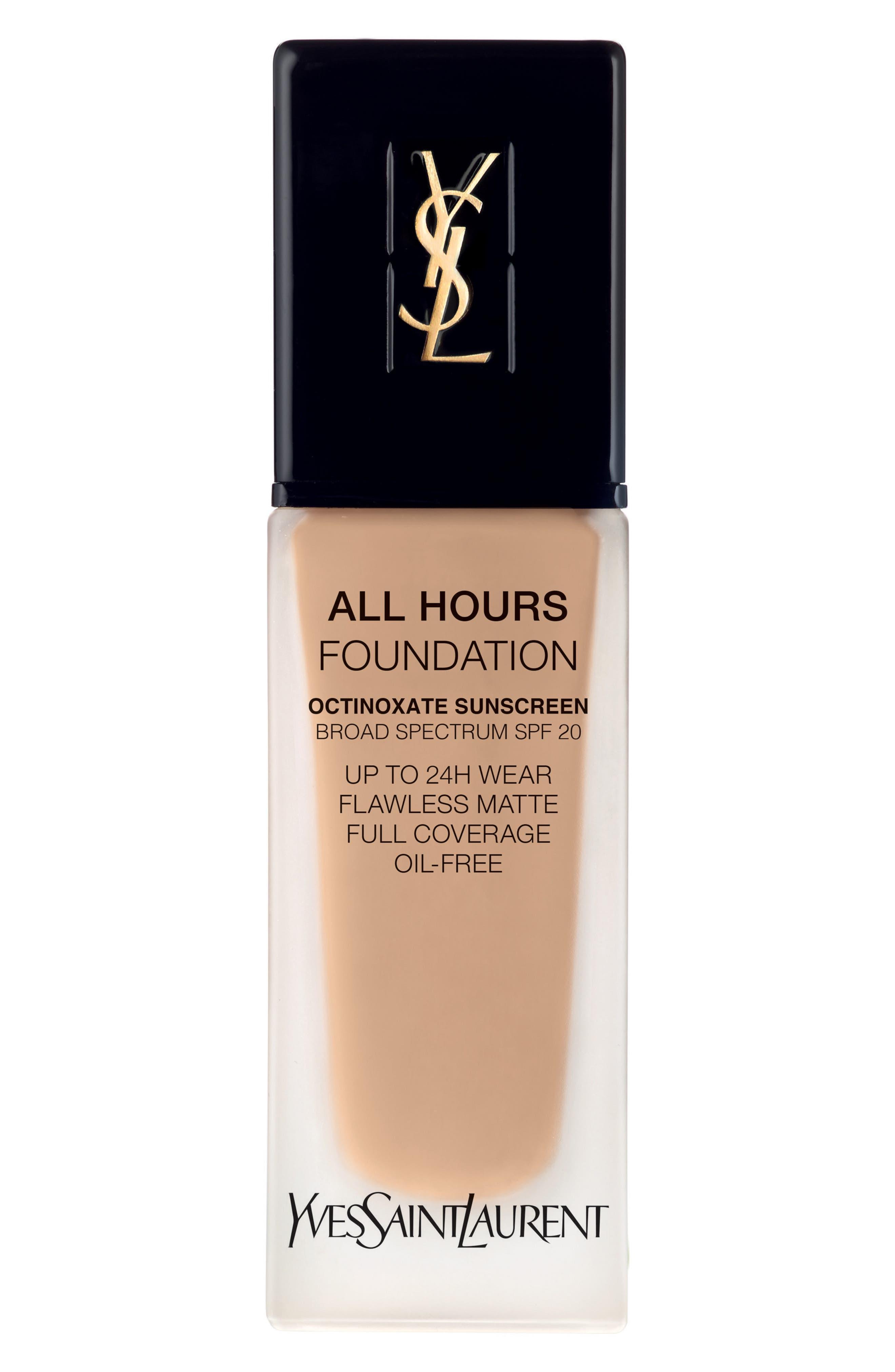 Yves Saint Laurent All Hours Full Coverage Matte Foundation Spf 20 - Bd30 Warm Almond