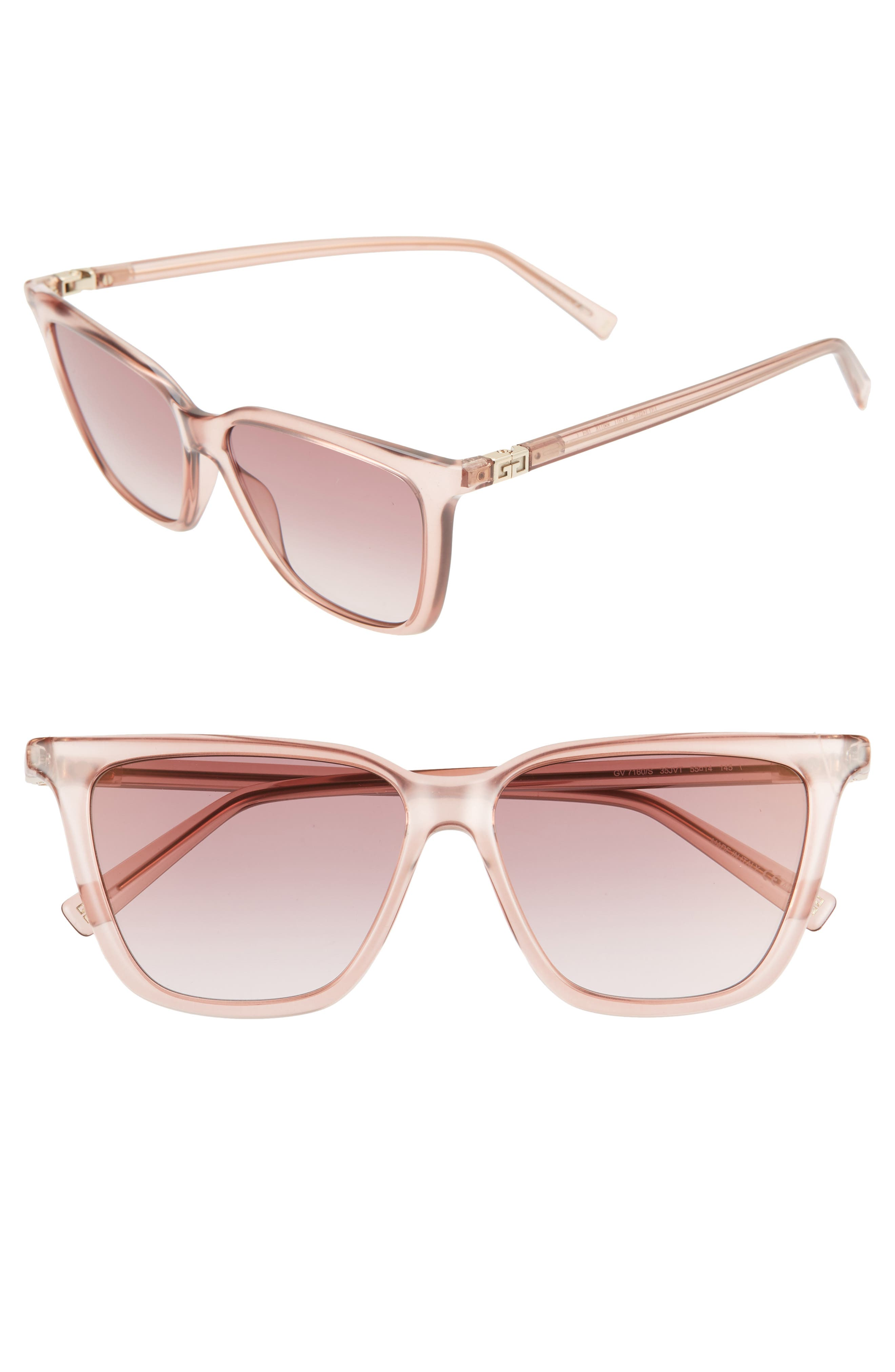 Image of Givenchy 55mm Square Sunglasses