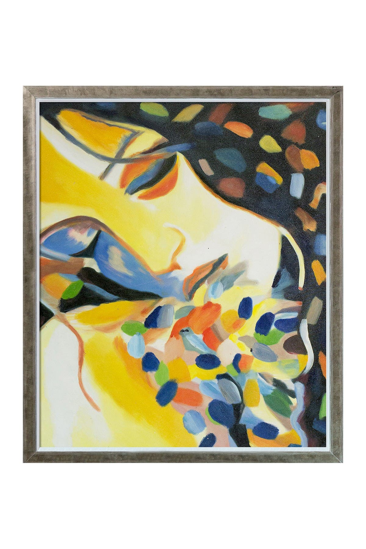 """Image of Overstock Art Delight Reproduction with Champagne Silhouette Frame - 22.4"""" x 26.4"""""""