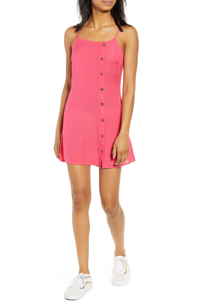BILLABONG Fine Nights Buttoned Minidress, Main, color, 601