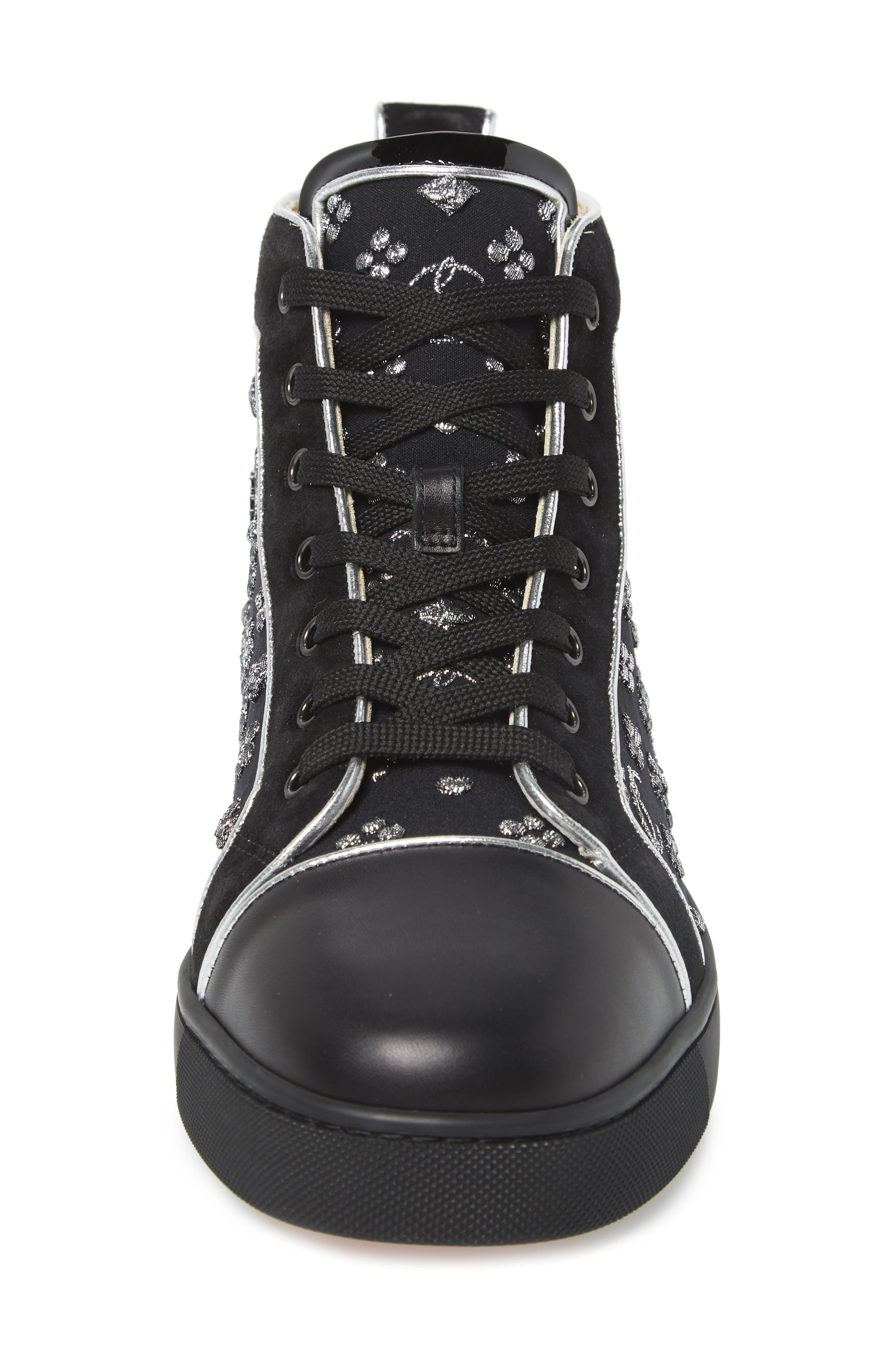 ,                             Louis Orlato High Top Sneaker,                             Alternate thumbnail 4, color,                             BLACK/SILVER