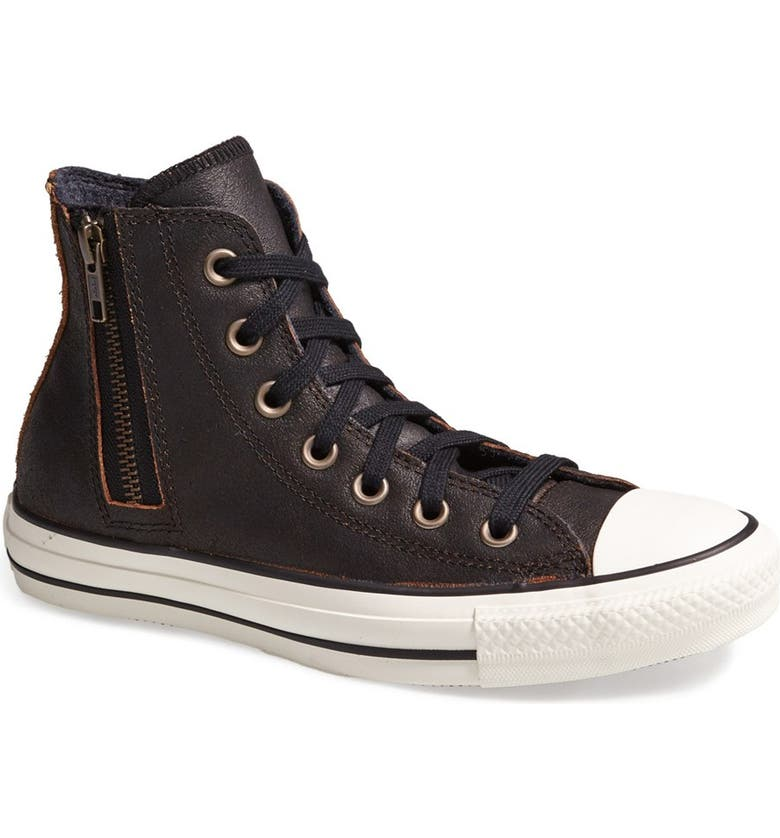 'aviator' Leather High Top Zip Sneaker Taylor® Side Chuck y6b7gf