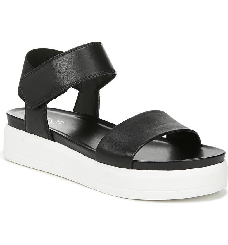 FRANCO SARTO Kana Platform Sandal, Main, color, BLACK LEATHER