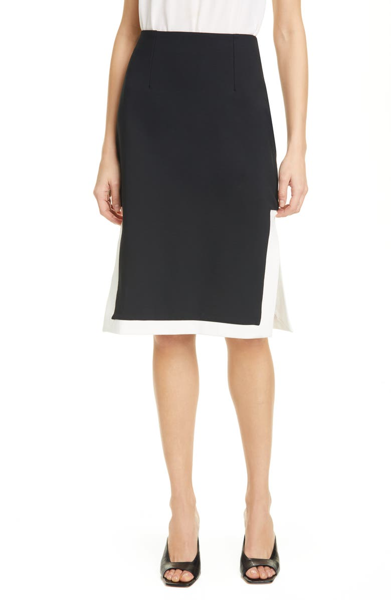 STAUD Yang Ponte Skirt, Main, color, PONTE