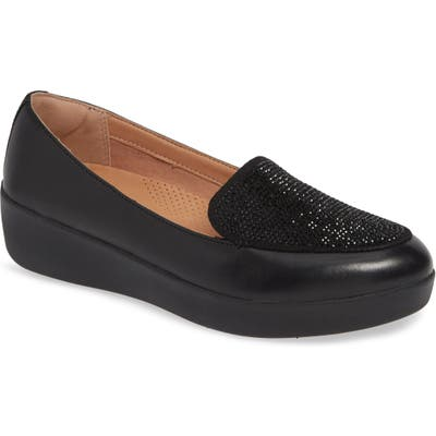 Fitflop Crystal Sneakerloafer Slip-On, Black