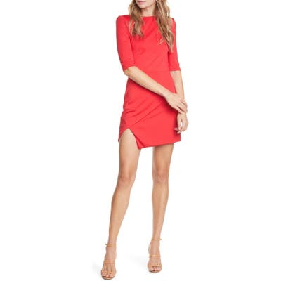 Alice + Olivia Nova Asymmetrical Minidress, Red