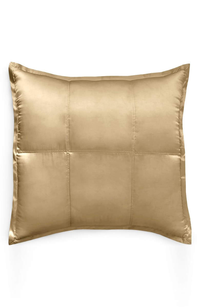 DONNA KARAN NEW YORK Donna Karan Collection 'Reflection' Euro Sham, Main, color, GOLD DUST