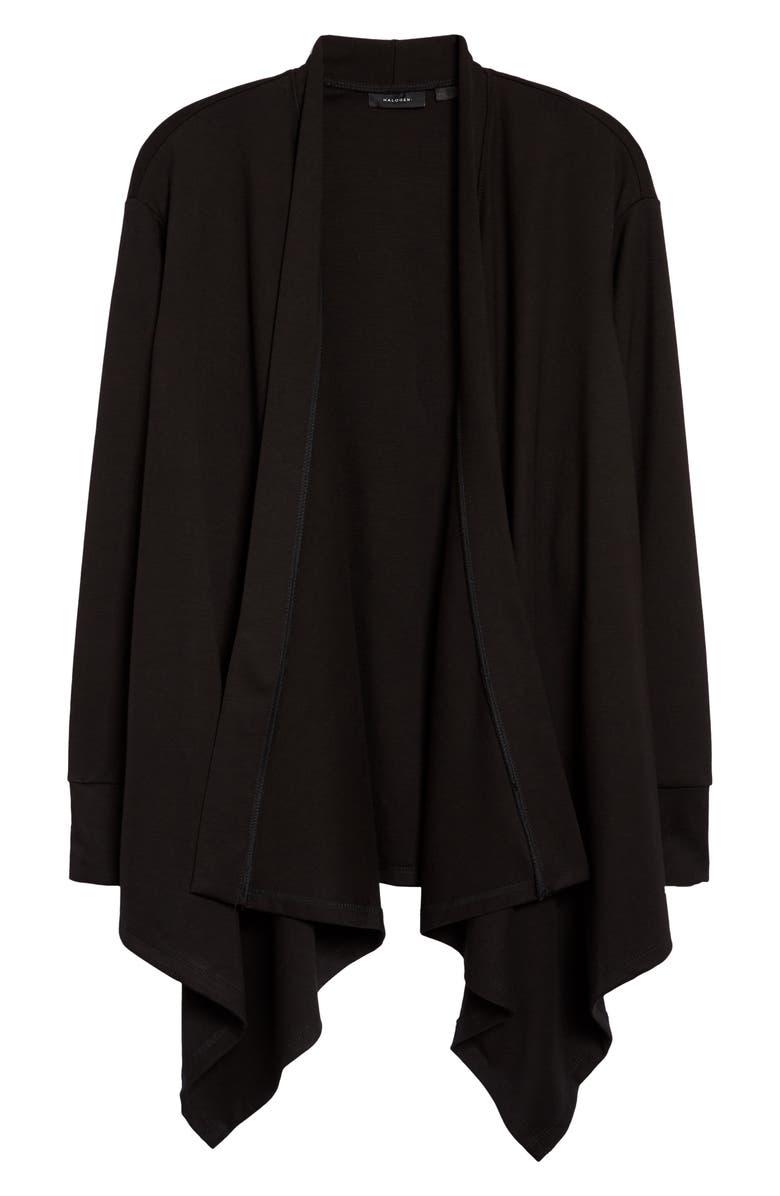 HALOGEN<SUP>®</SUP> Waterfall Cardigan, Main, color, 001