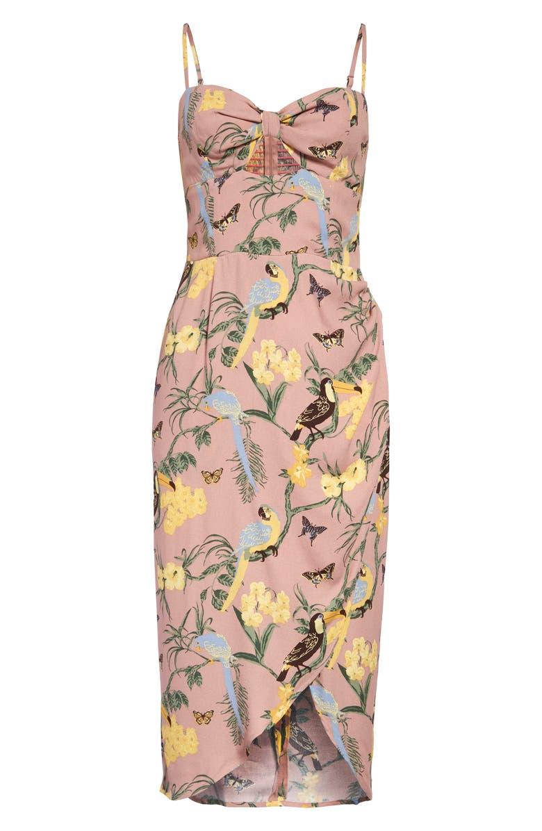 REFORMATION Aero Floral Print Sundress, Main, color, CONGA