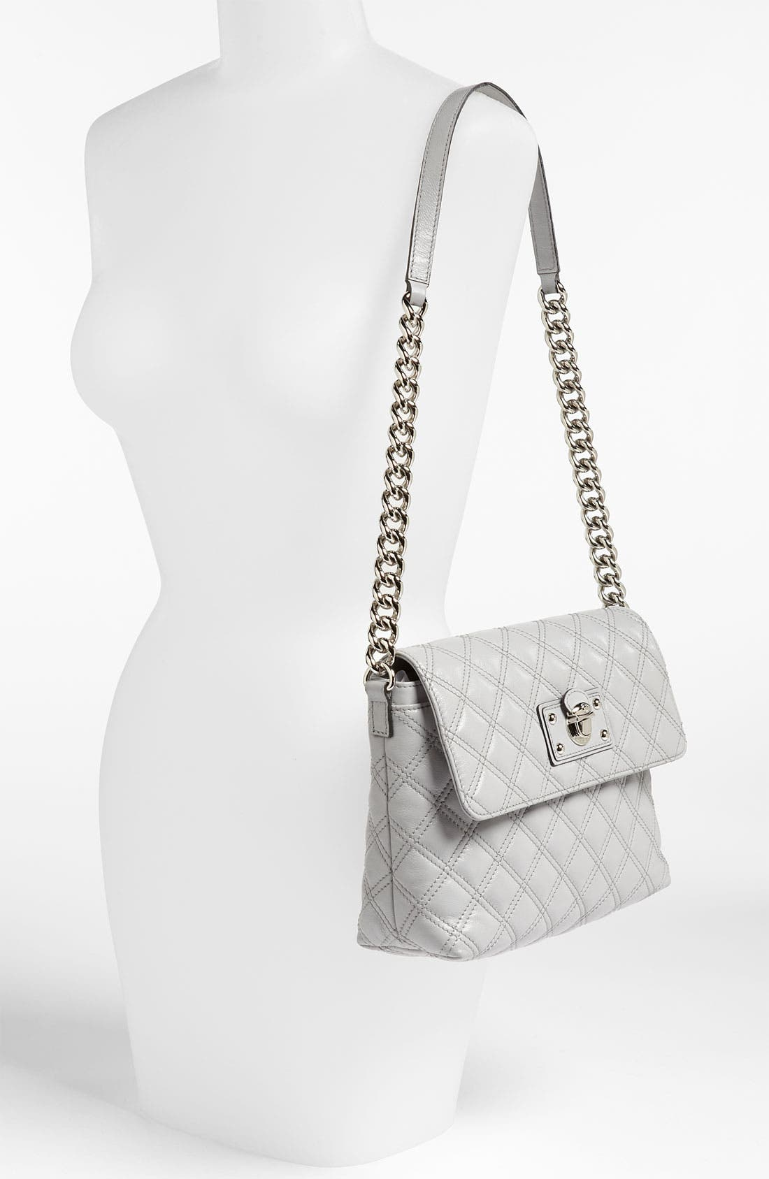 ,                             'Large Quilting Single' Leather Shoulder Bag,                             Alternate thumbnail 16, color,                             020