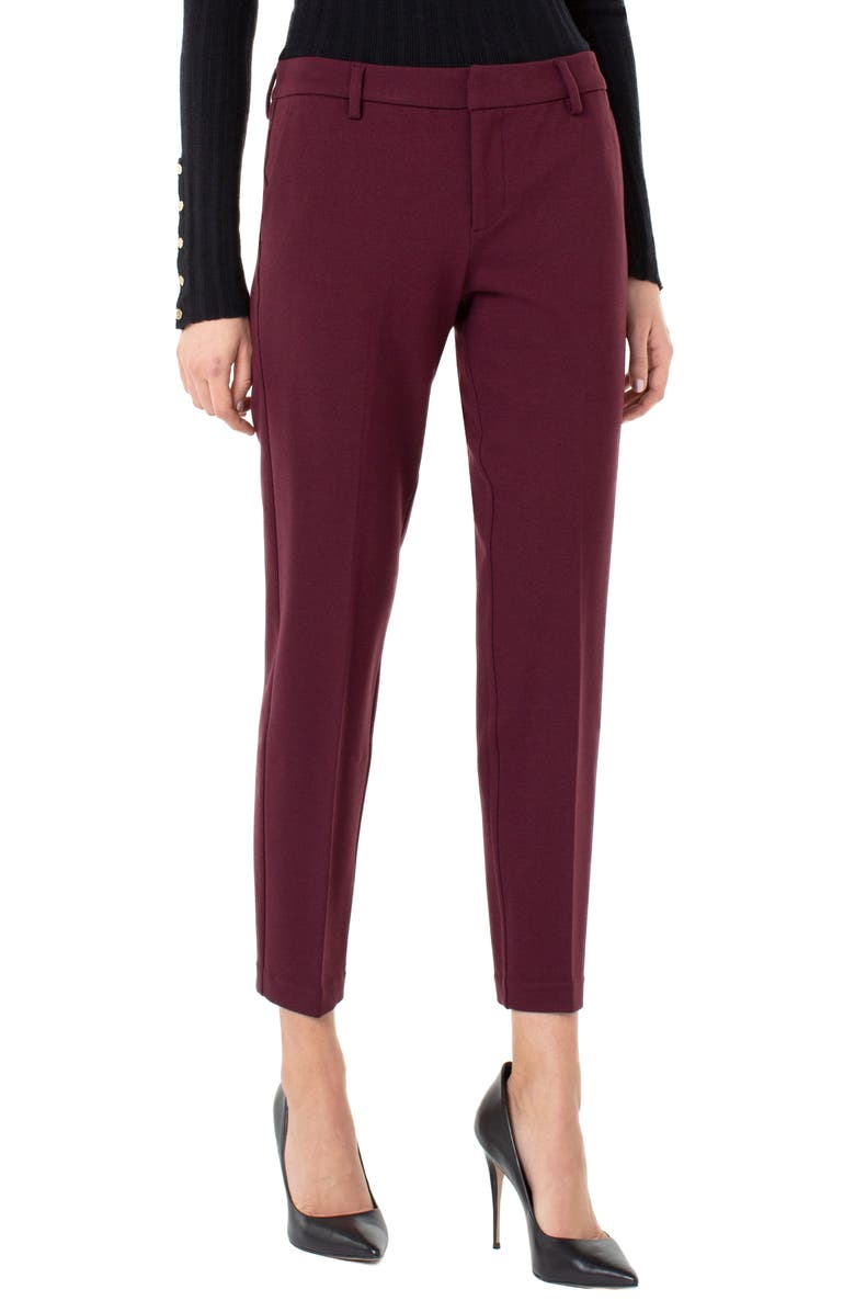 LIVERPOOL Kelsey Knit Trousers, Main, color, COCOA BURGUNDY
