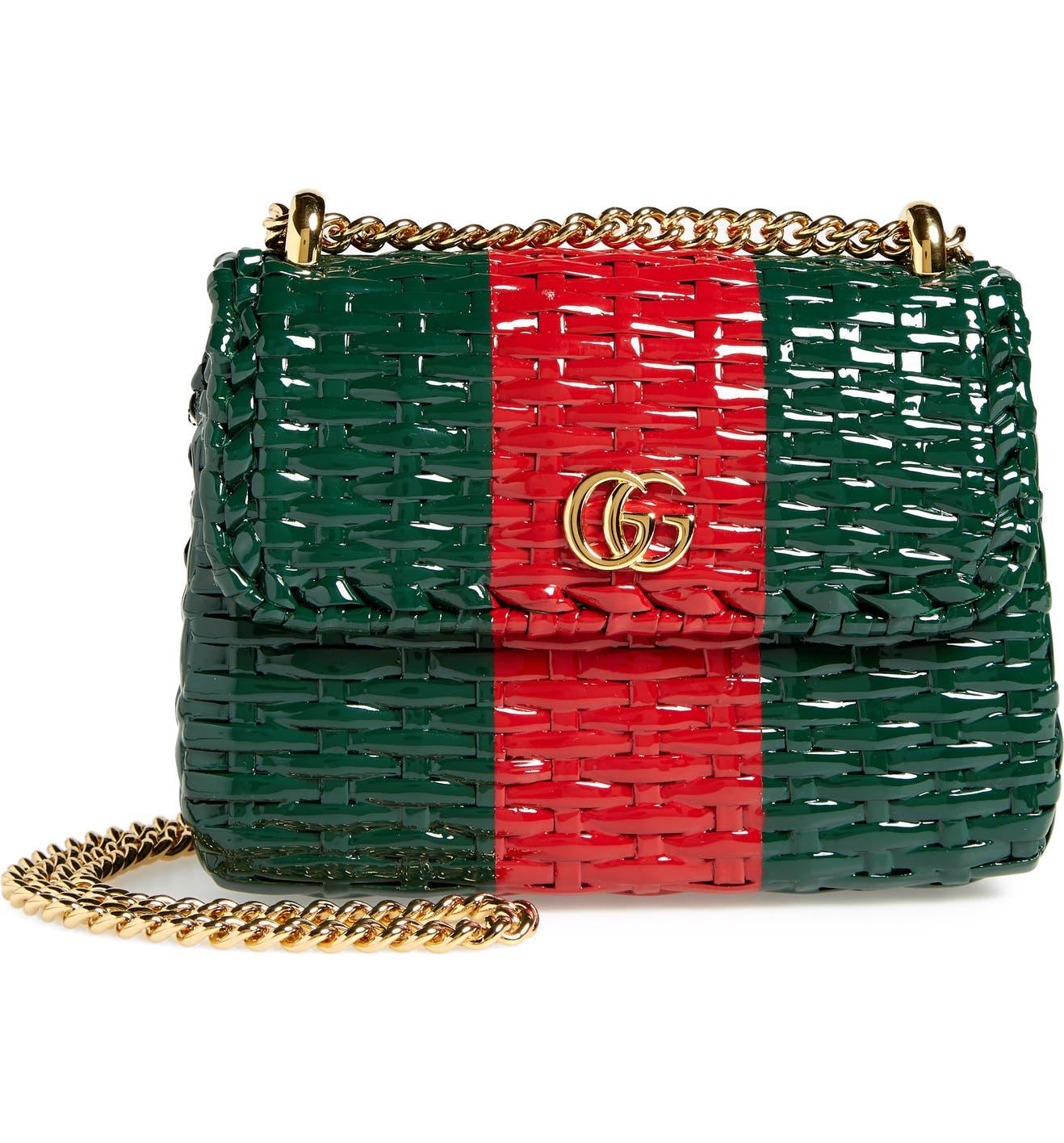 bae92edbb1ef65 Gucci Small Linea Cestino Glazed Wicker Shoulder Bag | Nordstrom