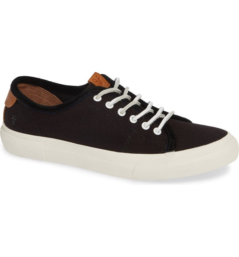 FRYE Gia Low Lace-Up Sneaker, Main, color, BLACK CANVAS