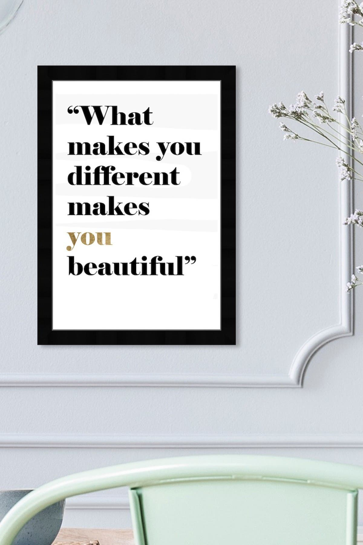 Image of Wynwood Studio What Makes You Different Makes You Beautiful White Framed Wall Art