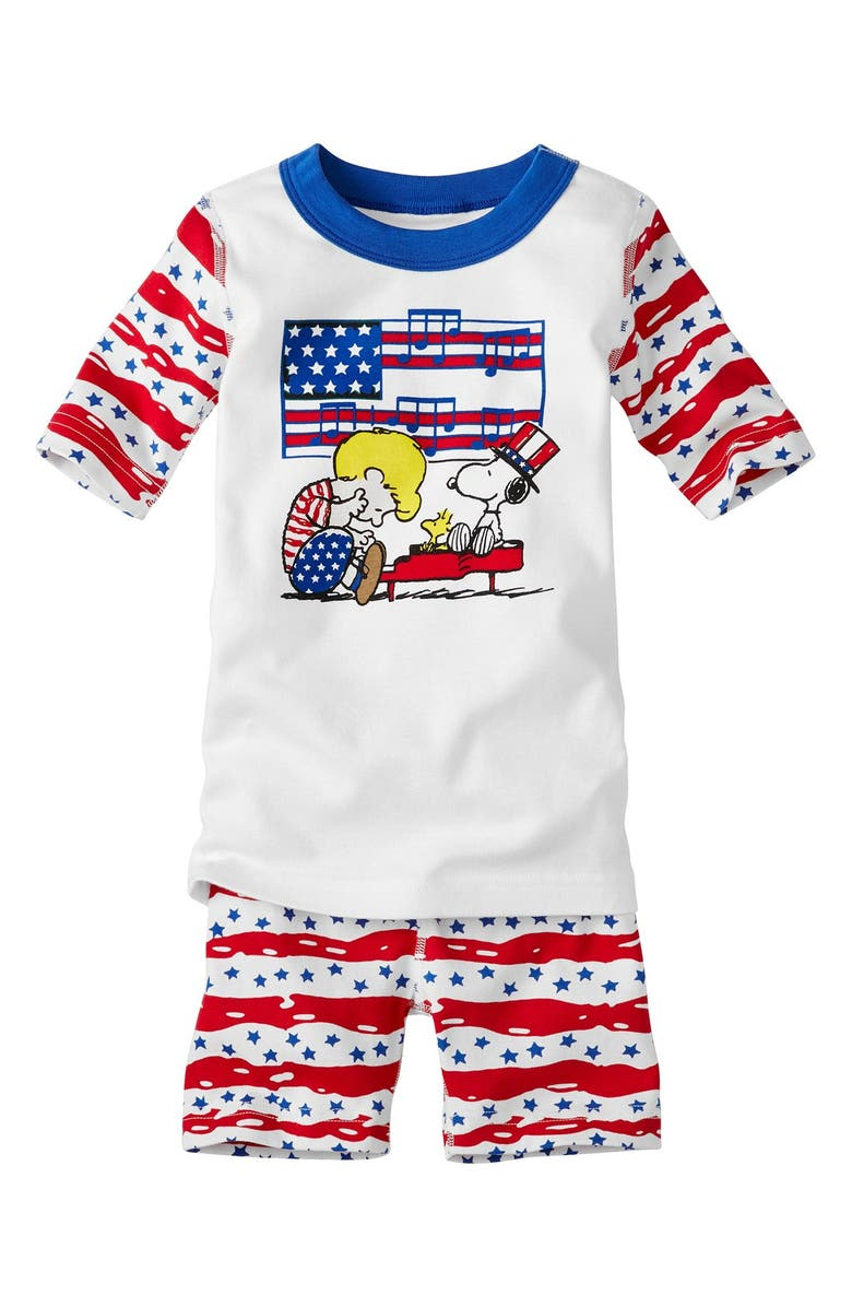 ddbba7e5b26 Hanna Andersson 'Peanuts® - 4th of July' Organic Cotton Fitted Two ...