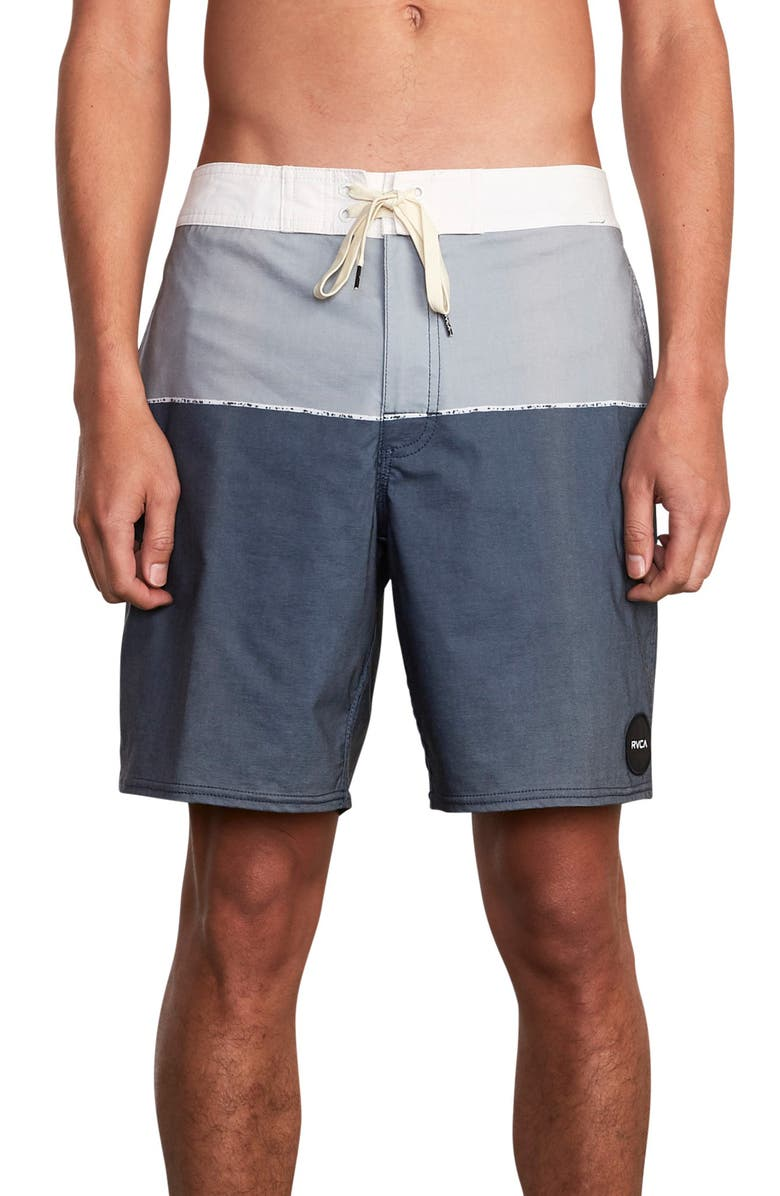 RVCA Spits Colorblock Board Shorts, Main, color, 466