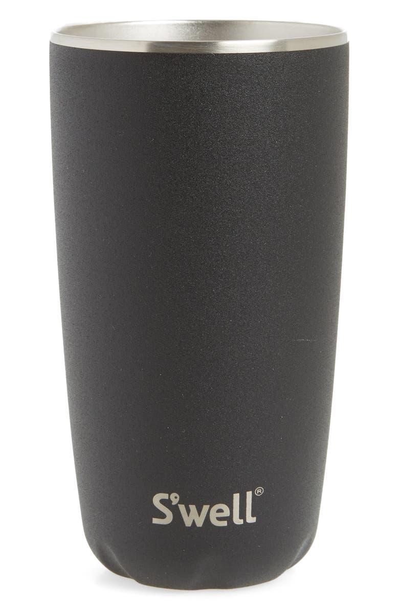S'WELL Onyx 18-Ounce Insulated Tumbler, Main, color, ONYX