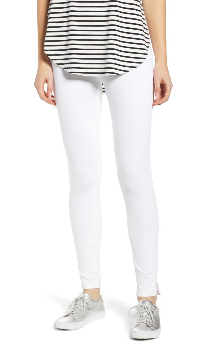 LYSSÉ High Waist Skinny Denim Leggings, Main, color, WHITE