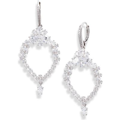 Nadri Tulle Doublet & Cubic Zirconia Drop Earrings