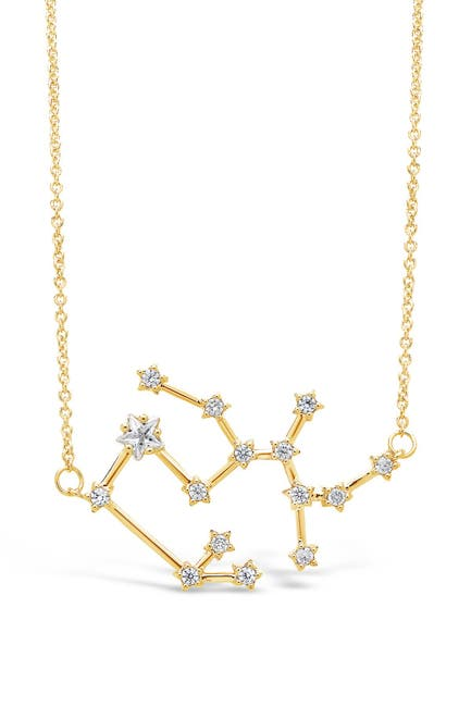Image of Sterling Forever Delicate Constellation CZ Sagittarius Zodiac Pendant Necklace