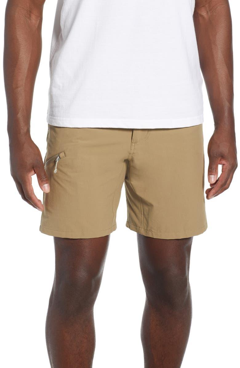 PATAGONIA Quandary Shorts, Main, color, ASH TAN