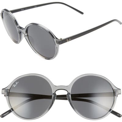 Ray-Ban 5m Round Sunglasses - Transparent Grey/ Grey Solid