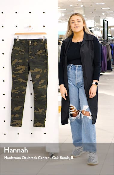 Camo Print Skinny Utility Pants, sales video thumbnail