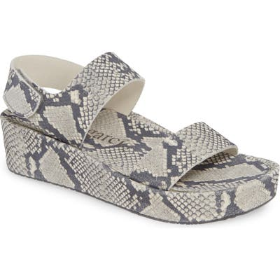 Pedro Garcia Lacey Footbed Sandal, Grey