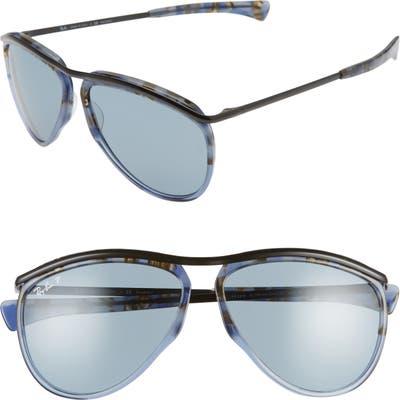 Ray-Ban 5m Polarized Aviator Sunglasses - Blue Havana