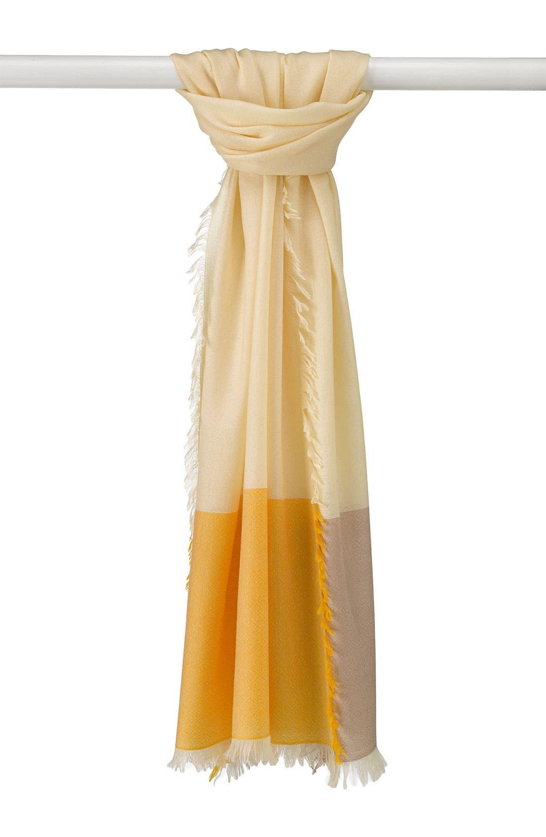 ,                             'Eyelash' Colorblock Cashmere Wrap,                             Main thumbnail 103, color,                             710