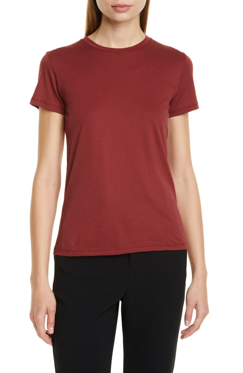 VINCE Essential Crew Tee, Main, color, RUM DUSK
