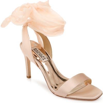 Badgley Mischka Joylyn Tie Ankle Sandal, Pink